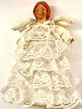 """Vintage Angel Tree Topper, Christmas Decoration Tree Topper 10"""""""