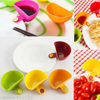 4Pcs 1/3 Cup Capacity Tiered Stand Dip Clip Ketchup Creative Sauce Serving Bowl