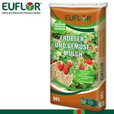 Euflor 50 l Mulch Minis - Erdbeer- und Gemüsemulch Schutz Pflege Öko Hochbeet