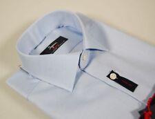 Camicia classica uomo Ingram No Stiro puro Cotone Oxford Celeste Taglia 43 XL