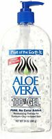 Fruit of the Earth Aloe Vera 100% Gel Pump Bottle Alcohol Free 24 Ounce, 2 Pack