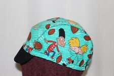 cycling cap HEY ARNOLD  PRINT one size or any size handmade in USA