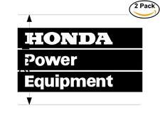 Honda Power Equipment 2 Stickers 9.5 inches Sticker Decal