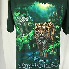 Vintage 90s Walt Disney World Animal Kingdom T-Shirt M Green Tiger Theme Park
