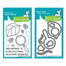 Lawn Fawn Stamp and Die Set - Hey Lady (LF2223, LF2224) Includes 2 items