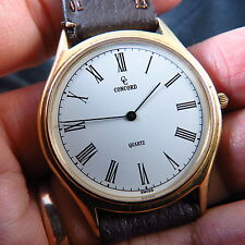 SWISS MADE 18K SOLID GOLD CONCORD ROYAL MARINER QUARTZ MEN WATCH