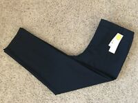 NWT Charter Club Navy Blue Classic Fit Slim Leg Ankle Women's Pants Size 12