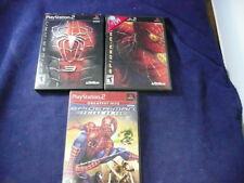 Playstation 2 Spiderman 2 / Spiderman 3 & Spiderman Friend or Foe Scratch Free
