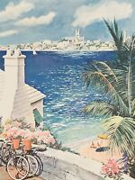 ART PRINT POSTER TRAVEL BERMUDA VIEW HAMILTION PAINTING ADVERTISEMENT NOFL1091