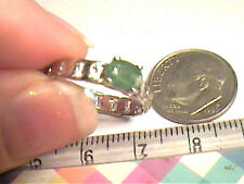 COLOMBIAN STERLING natural EMERALD RING 7 SILVER 925  Small solitaire