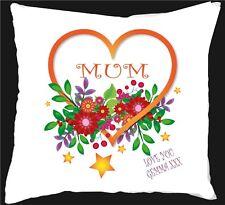 mum grandma nanny auntie any name flower cushion gift birthday/gift present 316