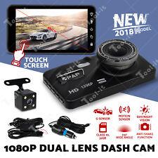 """2019 UPGRADE Dash Cam Dual Camera Reversing Recorder Car DVR Video 4"""" LCD 32GB"""