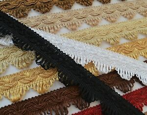 BEAUTIFUL DECORATIVE BRAID 35 mm width for curtains blinds clothing 12 colours