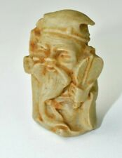 Vintage Ivory Color Elf Gnome Carved Figurine Hecho Mexico