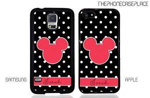 Disney Mickey Head Polka Dot Apple iPhone and Samsung Galaxy Phone Case Cover
