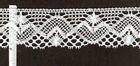 """White Cotton lace trim 2"""" wide  8yds (D627)"""