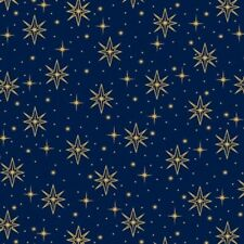 HOLY NIGHT SKY STARS CHRISTMAS QUILTING FABRIC NO. 34