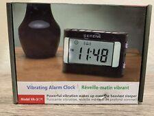 Serene Innovations Va3X Vibrating Travel Alarm Clock - Hearing Loss- Low Vision