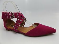 Halogen Molly Pointy Toe Flat Leather Buckle Closure Shoes Women SZ 6.5 M, 12013