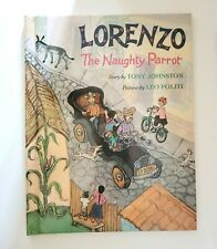 Lorenzo the Naughty Parrot  By Tony Johnston - Hardcover School Book Study Guide