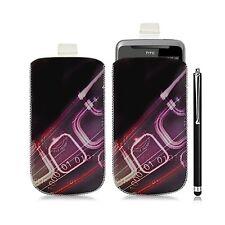 Housse coque étui pochette pour HTC Desire Z avec motif HF07 + Stylet luxe