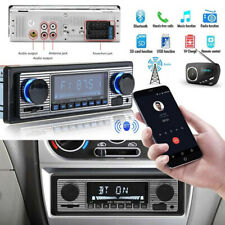 FM Vintage Car Bluetooth Radio MP3 Player Stereo USB/AUX Classic Stereo Audio US