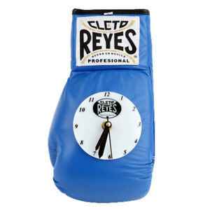 Cleto Reyes 10 oz Authentic Pro Fight Leather Clock Glove - Blue