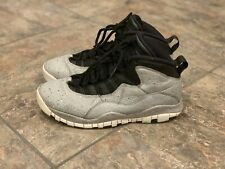 VNDS Men's Air Jordan 10 Retro Cement Size 8.5 Gray/Black 310805-062 Very Clean!