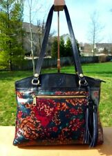 New ListingPatricia Nash Poppy Tapestry Leather Tote Shoulder Handbag Autumn Fall Nwt $249