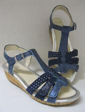 Scarpe Sandali in pelle blu per bambine dai 2 ai 16 anni