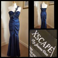 Xscape by Joanna Chen Blue Shimmer Ballgown/Bridesmaid/ Prom Dress Size 12