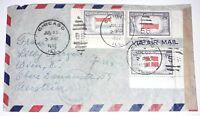 Alliierte Zensurstelle Z. 1 173 Brief Chicago USA 1952 Besetzung Österreich (80