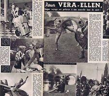 Coupure de presse Clipping 1956 Vera-Ellen    (2 pages)