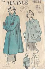 "1940s Vintage Sewing Pattern B32"" COAT (59)"