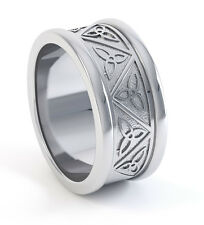 .950 Platinum Irish Handcrafted Celtic Trinity Knot Wedding Anniversary Ring