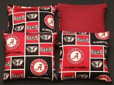 University of ALABAMA CRIMSON TIDE 4 Cornhole Bean Bags ACA Regulation Tailgate