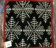 Pottery Barn Cozy Knit Snowflake Sweater Pillow Cover Christmas Decor 20""