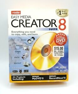Roxio Easy Media Creator Suite 8 PC Music, Photos, Video, Data, Backup Sealed