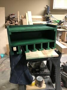 6 Slot Drill Holder/charging Station With Double Shelfs.