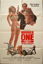 NUMBER ONE OF THE SECRET SERVICE one sheet movie poster 27x41 JAMES BOND SEX 77