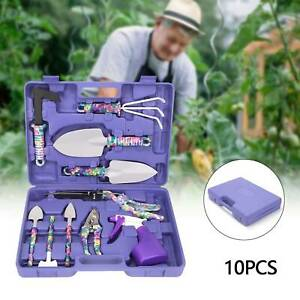 10x Gardening Tools Set DIY Garden Hand Tool Kit Non Slip Ergonomic Gift UK