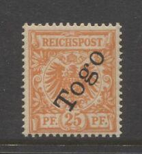 1897 German colonies TOGO 25 Pfennig early issue mint**, $ 192.00