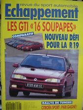 ECHAPPEMENT 1992 RENAULT 19 16S / FORD ESCORT RS2000 / ALFA 33 16V / TIPO 16v