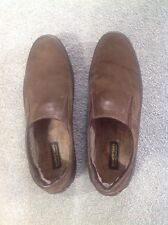 PAKERSON Brown Italian Handmade Man's Suede Shearling Loafer Shoes Size EU 42
