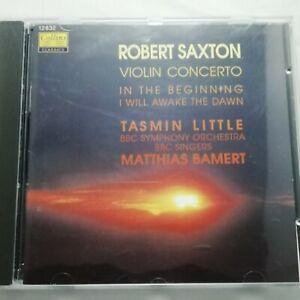 Robert Saxton: Violin Concerto etc / Little / Bamert / Collins Classics CD 12832
