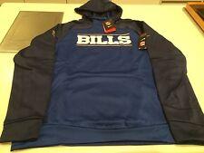 Buffalo Bills Sideline De Oro Logo Jersey Sudadera con capucha de la NFL de rendimiento X-Grande Azul