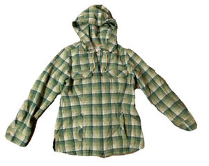 Pendleton Women's Wool Full Zip Up Plaid Hoodie Shirt Jacket Size Small