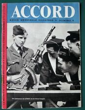 Accord April 1944 French Magazine w Ww Ii News for Occupied France