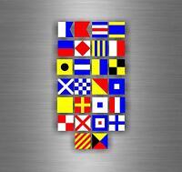 100/% COTTON Total 14 flags MARITIME Signal Code FLAG Set