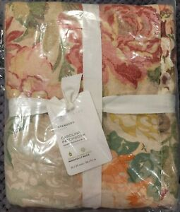 Pottery Barn Carolina Floral Patchwork Reversible Cotton Sham, Standard, Multi